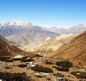 A rough but beautiful looking terrain en route: Jomsom Muktinath Trek