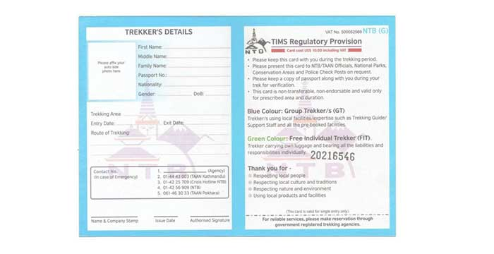Nepal Trekking Permits - Restricted Area Permits and Fees