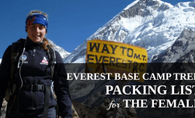 Everest Base Camp Trek Packing List for the Female Trekkers