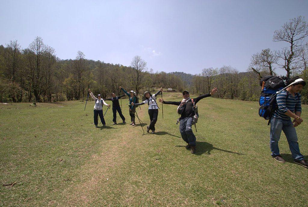 trekking in nepal in june