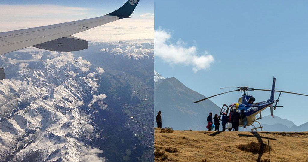 Everest Heli tour vs Mountain flight