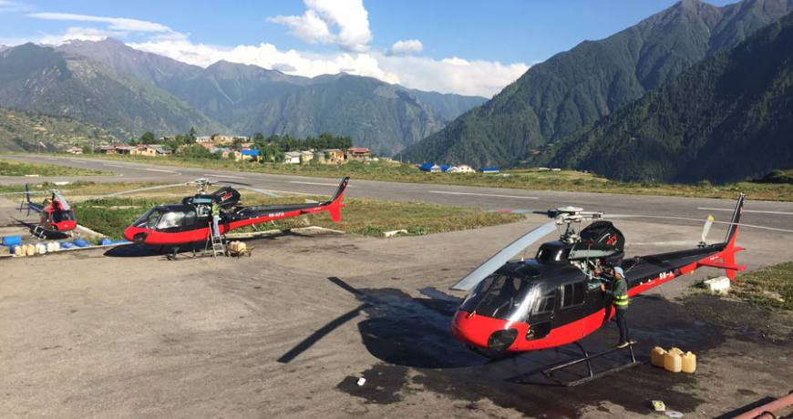 Mustang Helicopter Charter Costs in Nepal