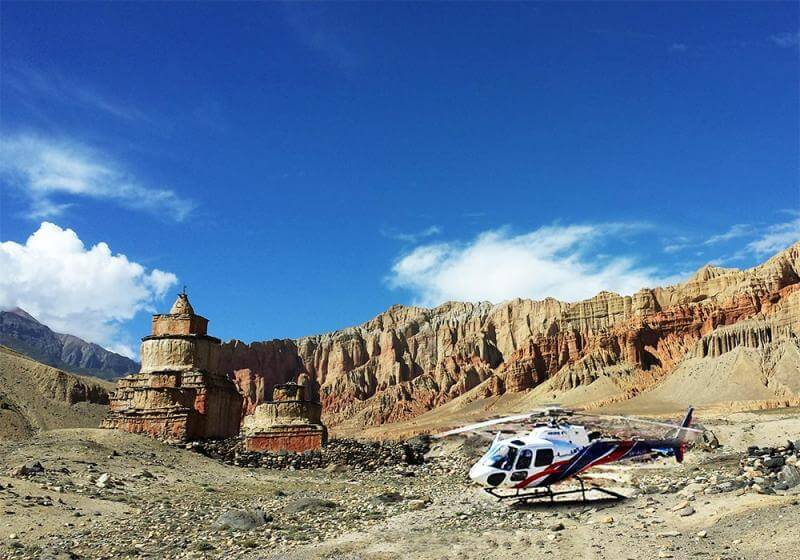 Upper mustang Helicopter Charter Costs in Nepal